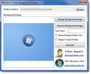 memungkinkan Anda untuk mengubah latar belakang folder di Windows 7